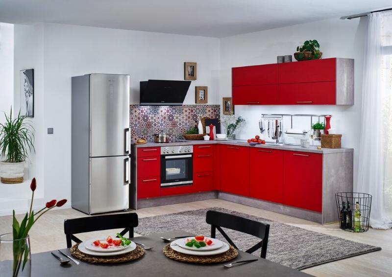Farbige Büroküche vom Küchenhaus-Waldbröl-Morsbach
