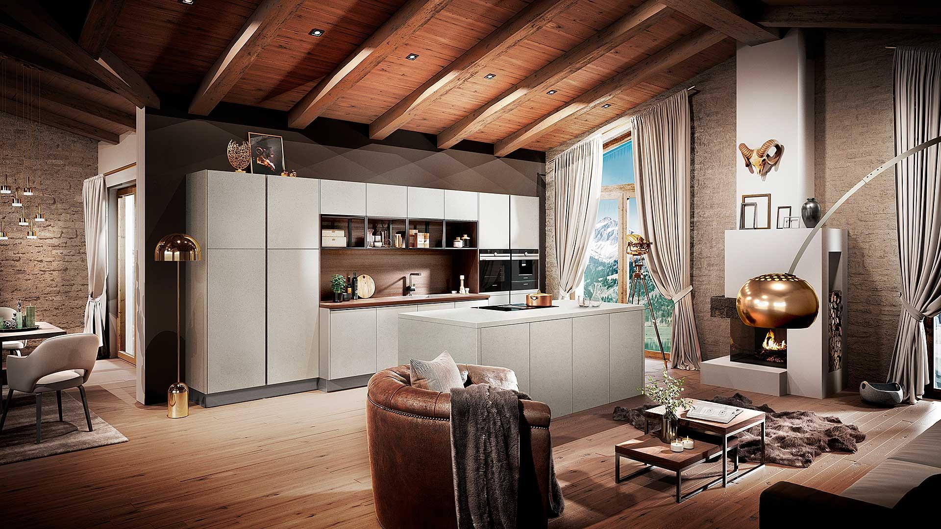 Betonküche von Küchenhaus Waldbröl